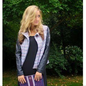 Rhyme tweed & leather jacket